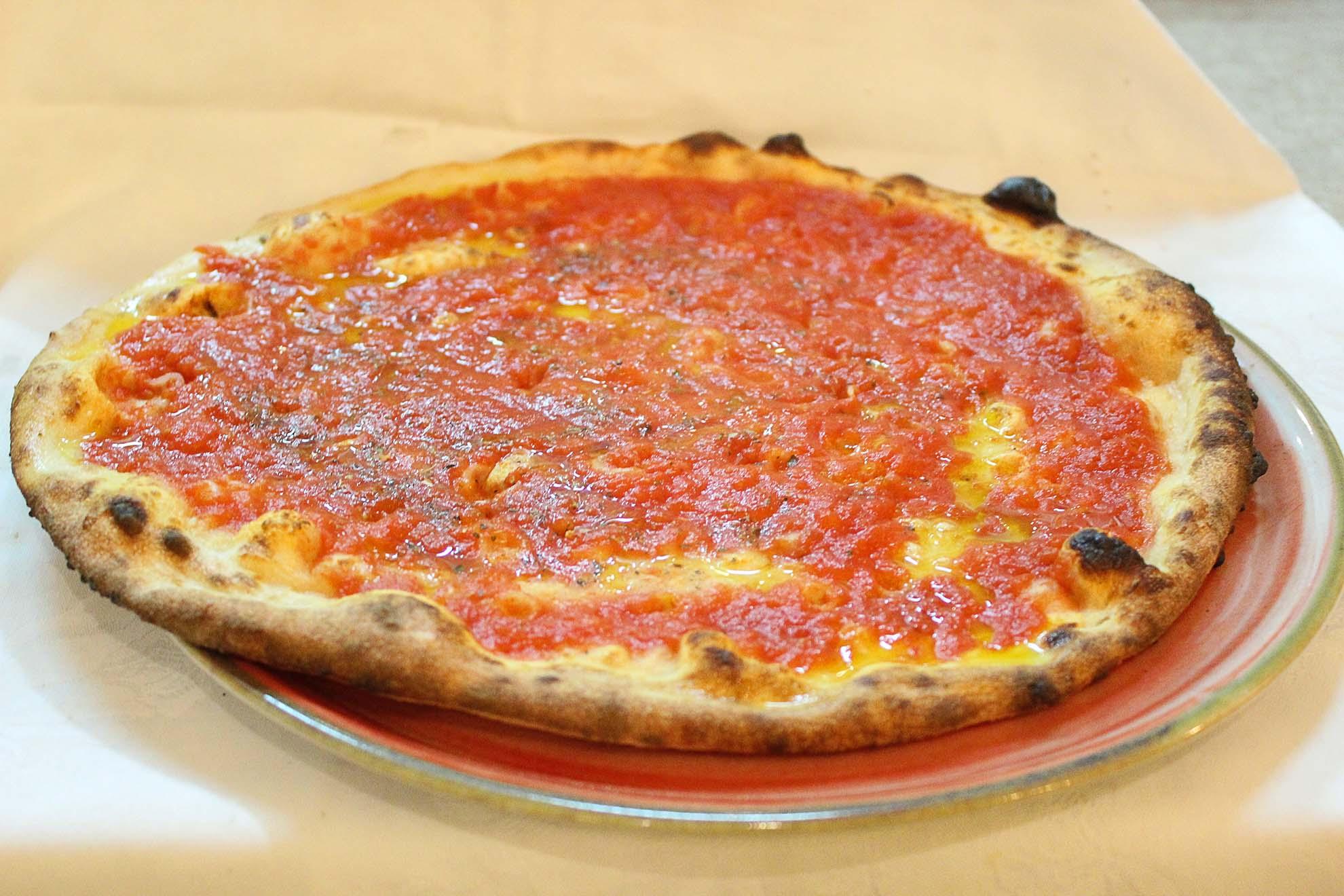 Pizza pomodoro e origano