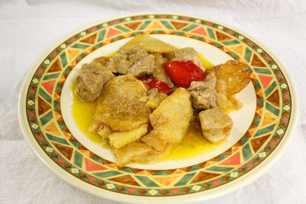 Sfriuonzl con patate e peperoni