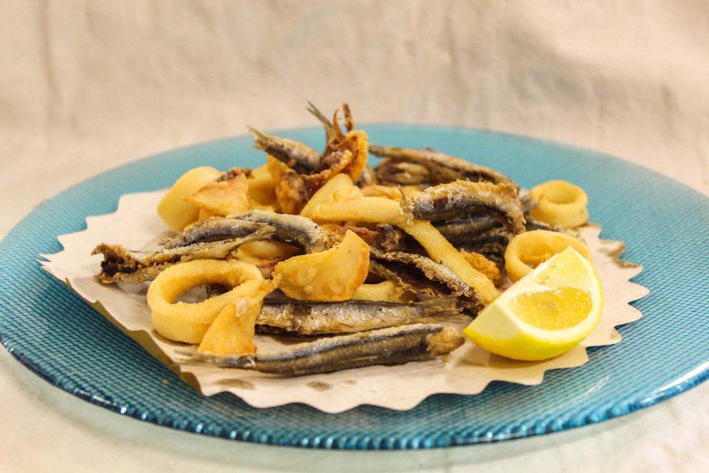 Frittura alici e calamari